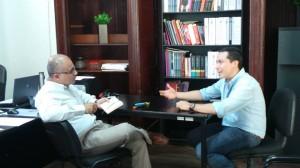 César Gutiérrez con Daniel Alejandro Acosta Aguirre