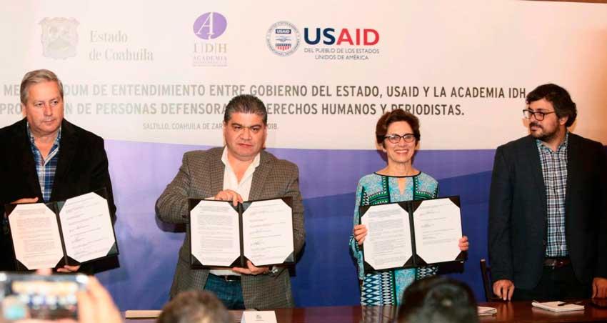 Da Coahuila primeros pasos en protección a periodistas y activistas